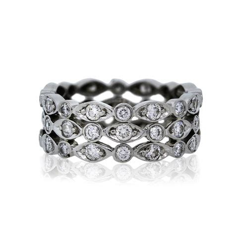 Tiffany & Co. Platinum Diamond Swing Ring Eternity Band