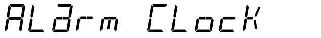 Alarm Clock font by David J Patterson - FontRiver