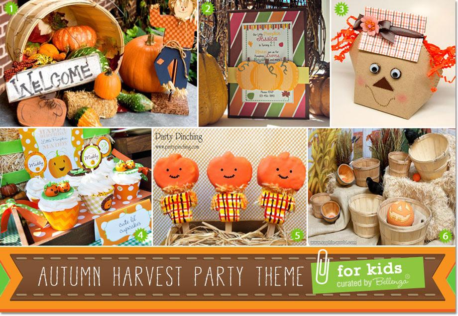 Creative Ideas For An Autumn Harvest Birthday Party For Kids