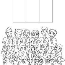 Coloriages Coloriage Equipe Foot France Frhellokidscom