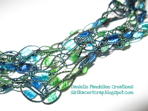 Detail of Trellis Yarn Necklace