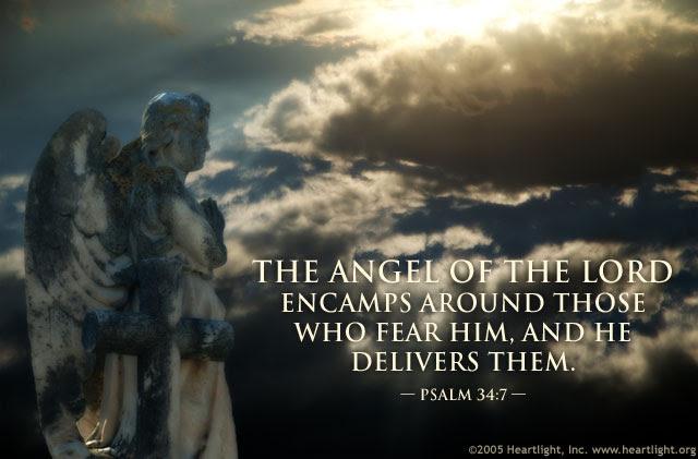 Inspirational illustration of Psalm 34:7