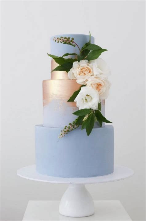 Wedding Cake Trends ? 20 Metallic Wedding Cakes   Roses