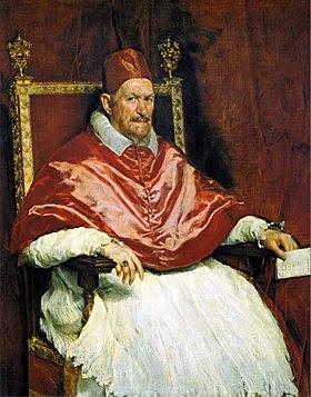 Retrato del Papa Inocencio X. Roma, by Diego Velázquez