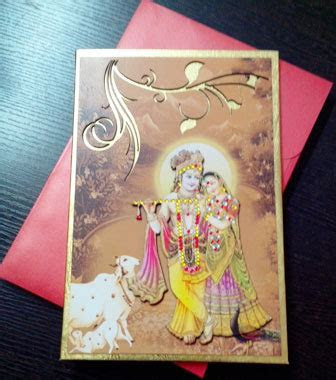 Radha Krishna Wedding Card Design   Innovative Art