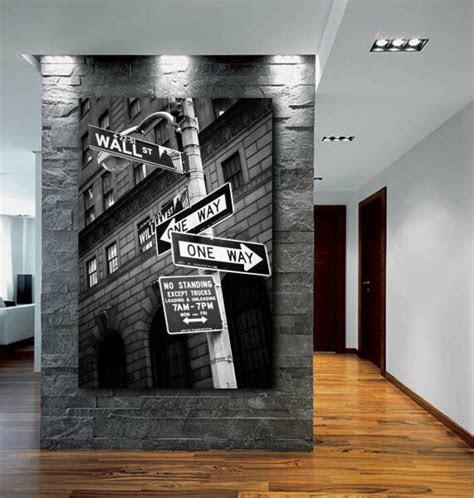 wall street sign  york city canvas fine art poster