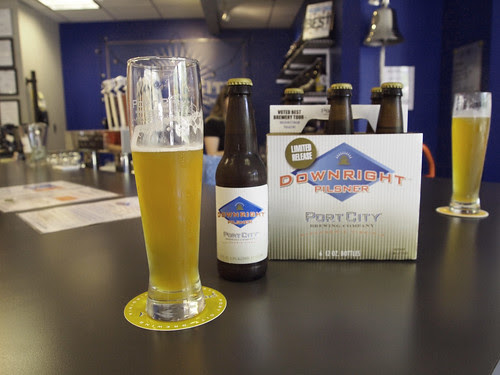In the tasting room with a Downright Pilsner