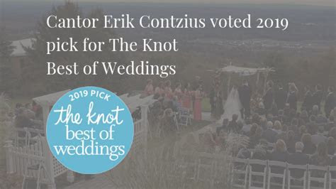 Cantor Erik Contzius wins The Knot?s 2019 Best of Weddings