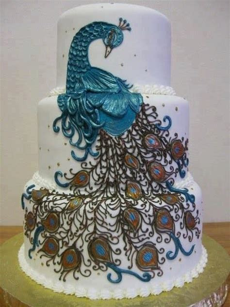 Funny at all: Peacock Style Wedding Cakes