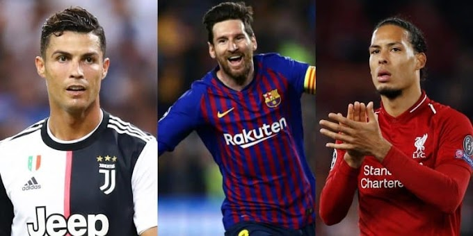 #SPORT - Star players, Messi, Ronaldo and Van Dijk make Best FIFA Men's Player of the Year nominees
