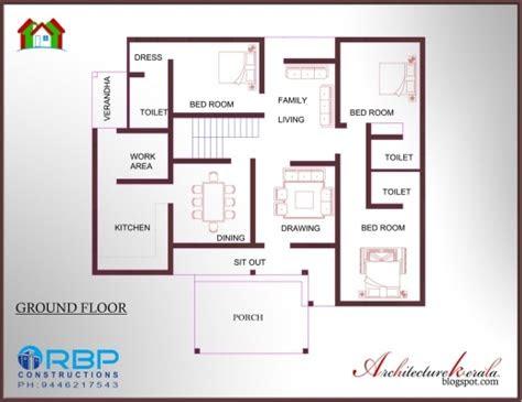 fascinating kerala style  bedroom single floor house