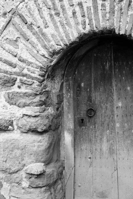Church Door b&w