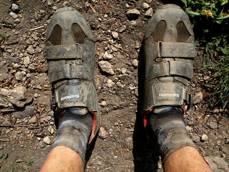 Results of a good mountain bike ride.
