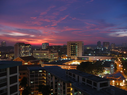 Bishan Sunset on New Year's Eve 2002