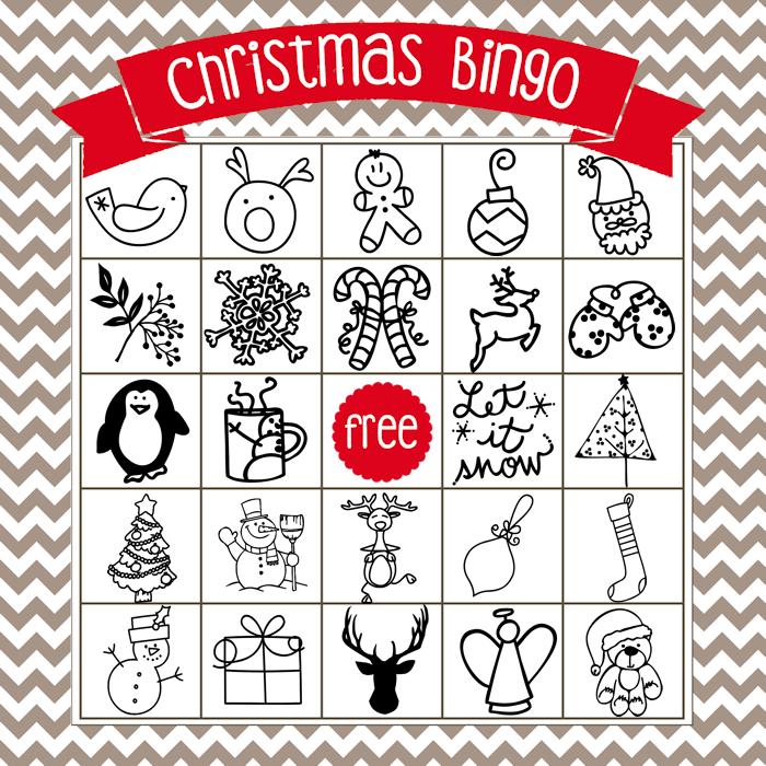 Printable Christmas Bingo Game - in English and Spanish - The Girl ...