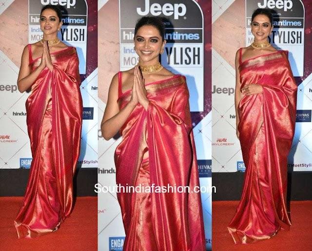 Celebrities in Kanchipuram Silk Sarees