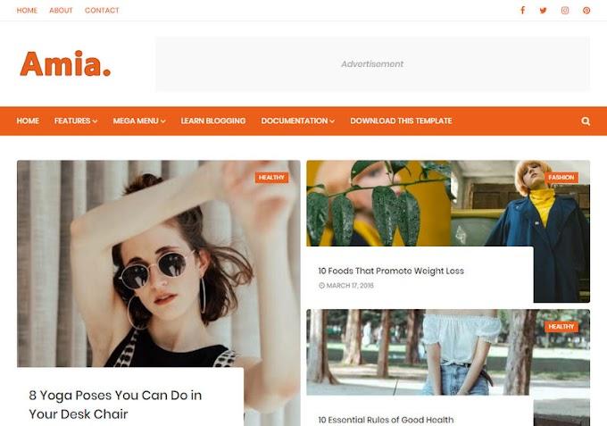 Amia Blogger Template - Template blogspot miễn phí 2019
