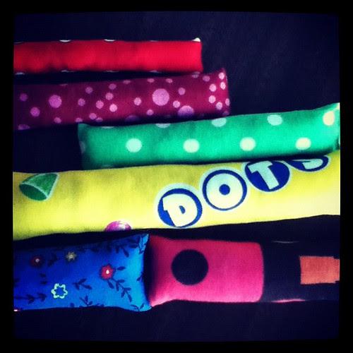Kitty kickers! They like polka dots right? #crafty