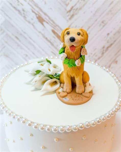 Best 25  Dog cake topper ideas on Pinterest   Fondant dog