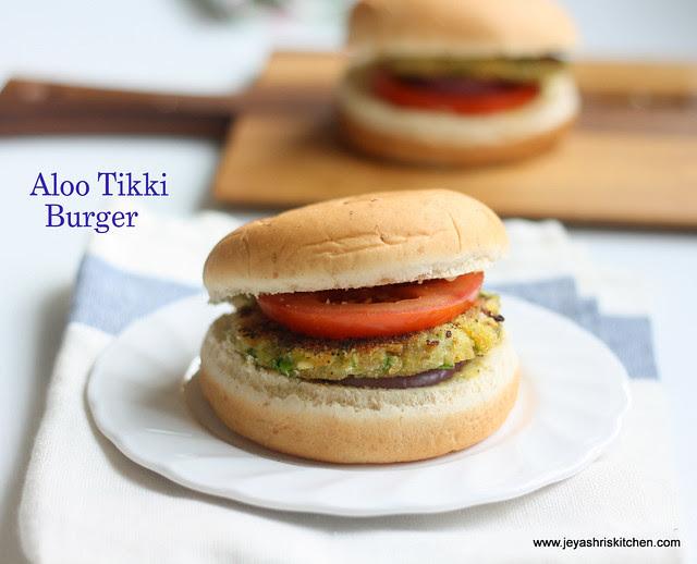 Aloo- tikki -burger