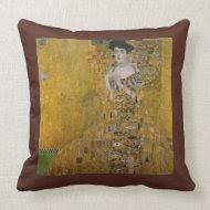 Adele Bloch Bauer by Gustav Klimt throwpillow