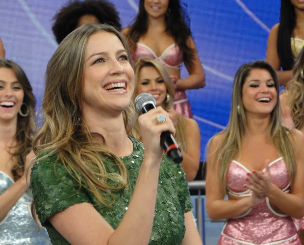 Luana Piovani (Foto: Domingão do Faustão / TV Globo)
