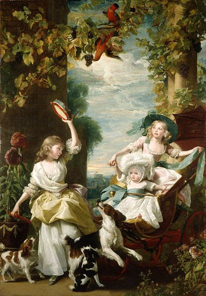 Portrait of the Three Youngest Daughters of King George III by John Singleton Copley, 1785
