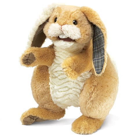 Patchwork Rabbit Hand Puppet  |  Folkmanis
