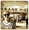 My good lady, impressed with Weston Super Mare's fine attempt at one of these new fangled 'Piers'