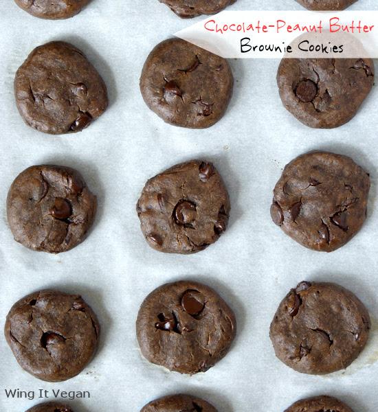 Chocolate-Peanut Butter Brownie Cookies