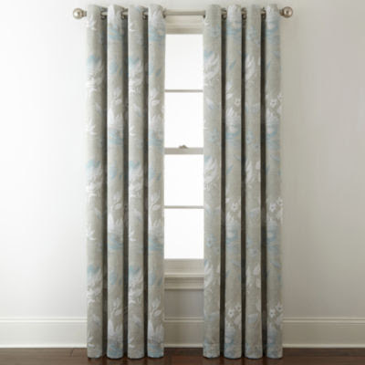 Jcpenney Home Kathryn Floral Room Darkening Grommet Top Curtain