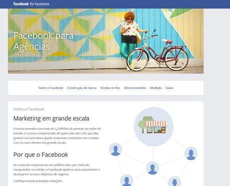 Facebook lança portal para alcançar mercado publicitário