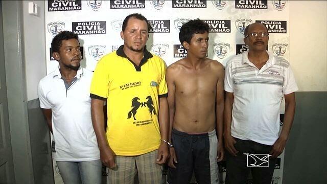 Policiais prendem quatro suspeitos de roubo de gado no MA