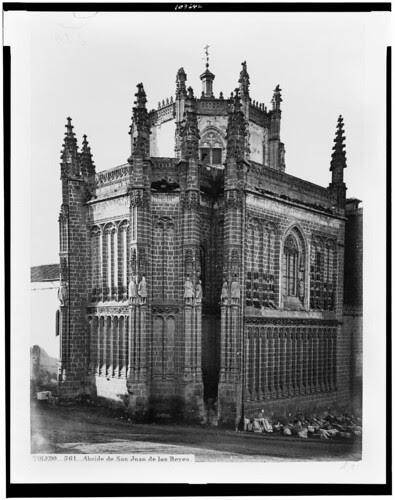 Monasterio de San Juan de los Reyes (Toledo) en el siglo XIX. Fotografía de Jean Laurent. The Library of Congress of the United States of America