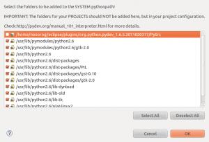 Eclipse: Select Python Libs