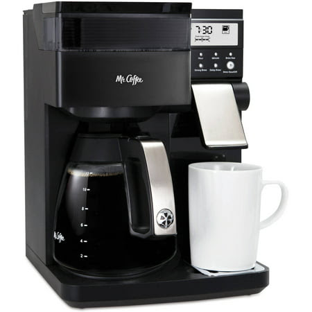Mr. Coffee Perfect Choice Coffee Maker with Glass Carafe, Black, BVMC-PCX85