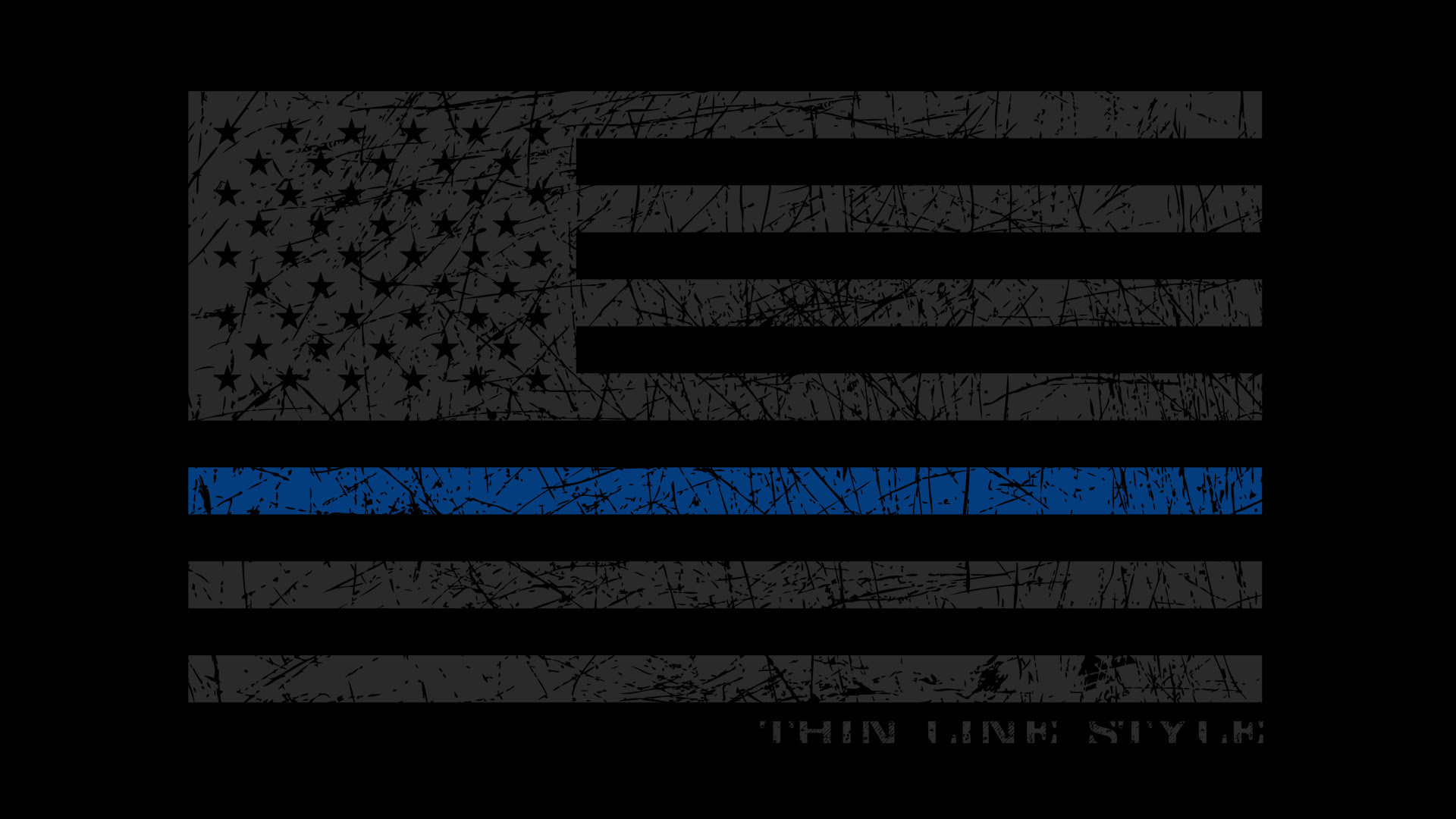 Awesome Police Blue Line Flag Wallpaper Pictures