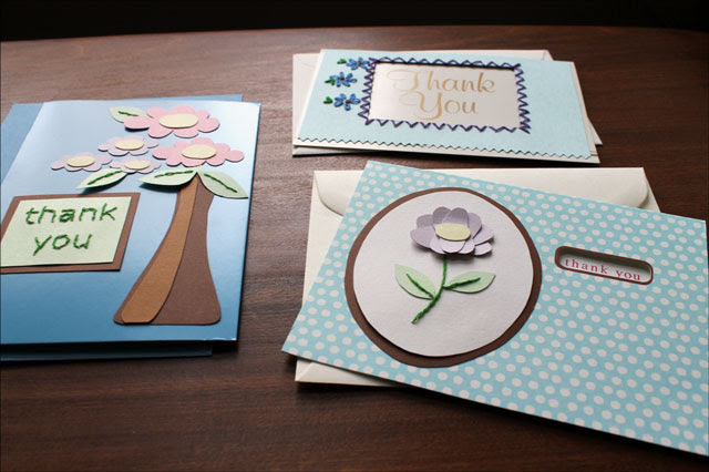 Recent Card Making Embroidered Thank You Cards Diy Loulou Downtown