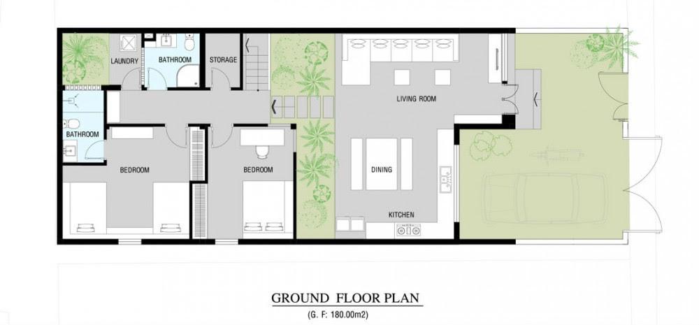 Modern home floor plan  Interior Design Ideas.