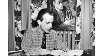 Portrait non daté de l'écrivain français Boris Vian