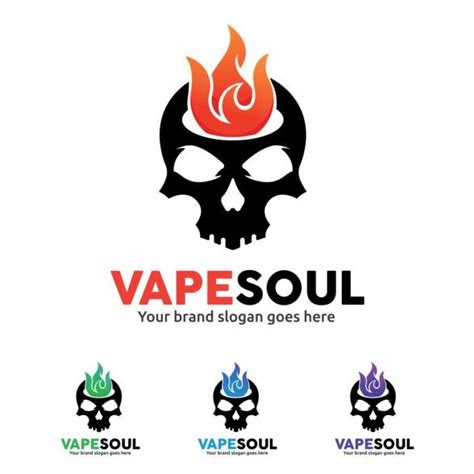 vape soul logo design vector vector logo