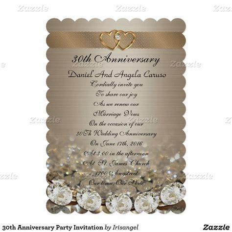 30th Anniversary Party Invitation   25th Anniversary