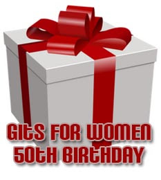 50th Birthday Gift Ideas for Women and Presents for her