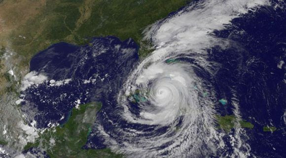 Ubicación de Irma a las 10:06 de hoy. Imagen: GOES/ Vía INSMET Cuba.