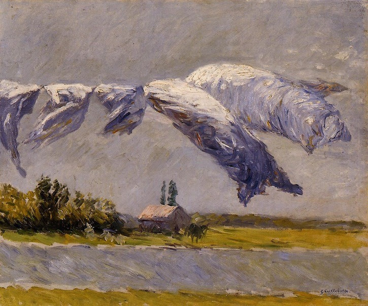 Painting: Gustave Caillebotte, Laundry Drying, Petit Gennevilliers, 1892