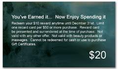 CPS-1087 - salon coupon card