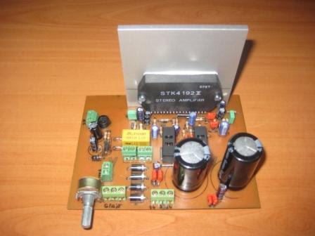 stk4192-2x50w-khuếch đại-PCB-ust