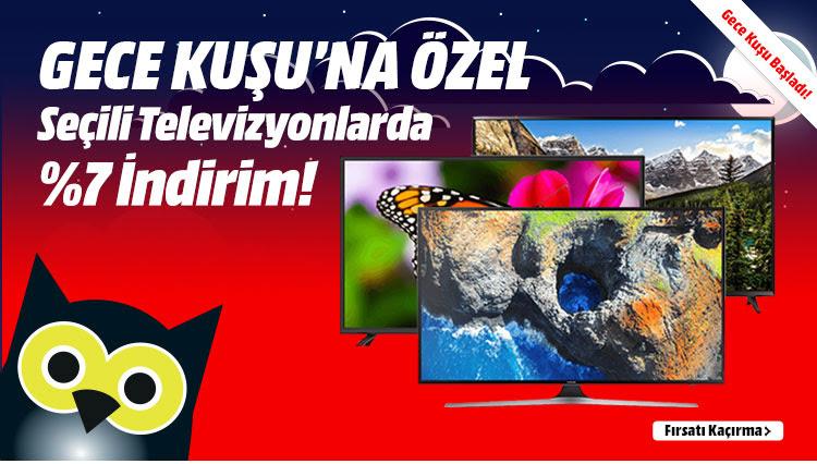 Gece Kuşu'na Özel Seçili Televizyonlarda %7 İndirim!