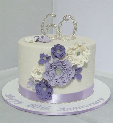 60th Wedding Anniversary Cake   cake decorating ideas