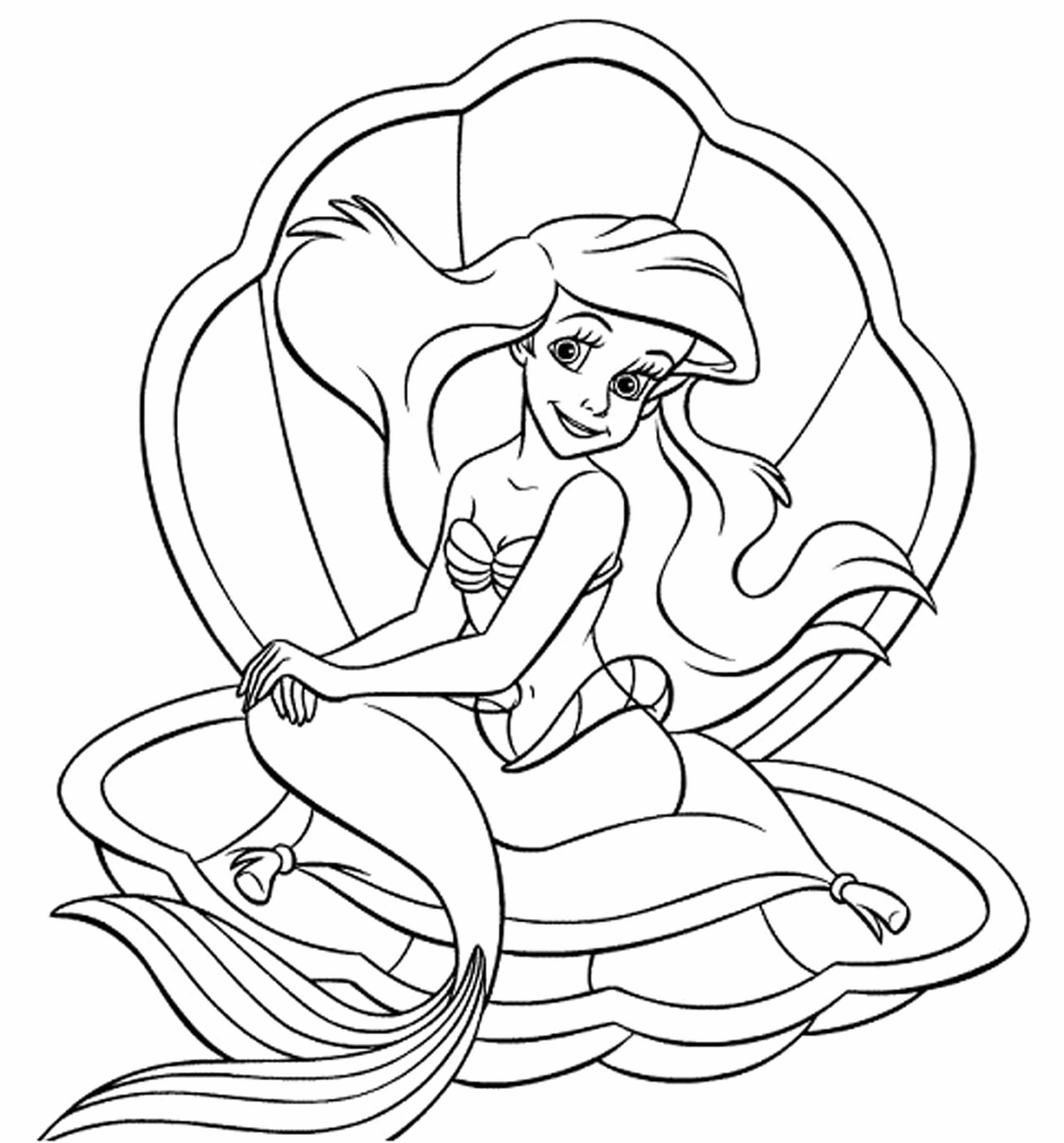 Baby Ariel Coloring Pages At Getcoloringscom Free Printable